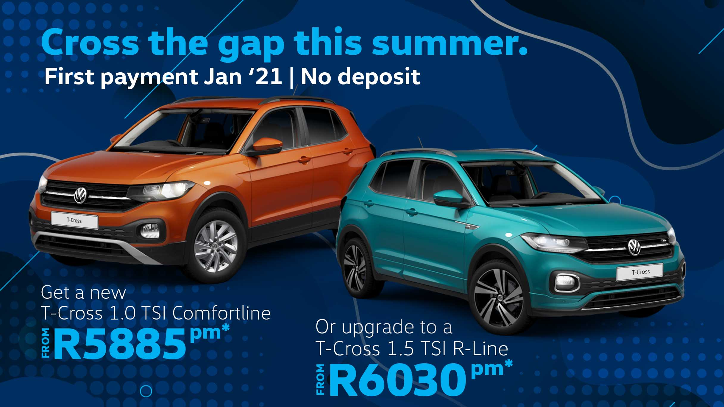 T-Cross car deal at Barons Woodmead, Sandton